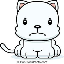 fâché, dessin animé, chaton