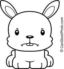 fâché, dessin animé, lapin