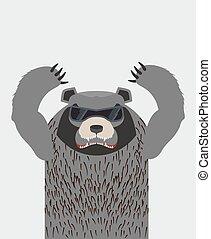 fâché, glasses., grizzly