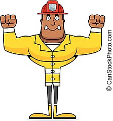 fâché, pompier, dessin animé