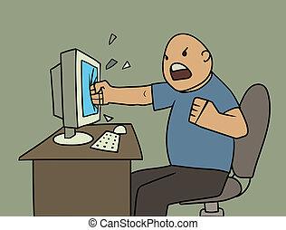 fâché, utilisateur