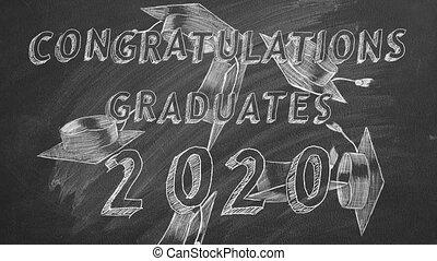 félicitations, 2020., graduates.