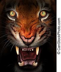 féroce, tigre