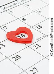février, valentine, 14, jour