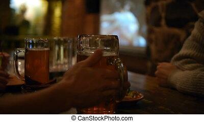 fête, bière, -, hd