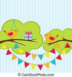 fête, carte anniversaire