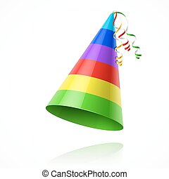 fête, chapeau anniversaire
