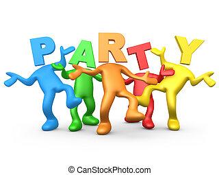 fête, gens