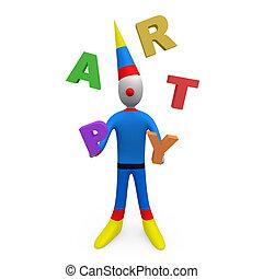 fête, jongleur