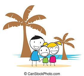 fête, plage, enfants