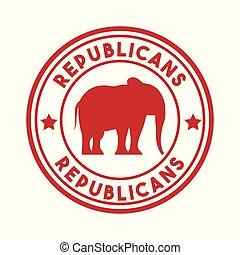 fête, républicain, politique, animal