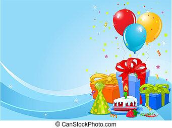 fêtede l'anniversaire, fond