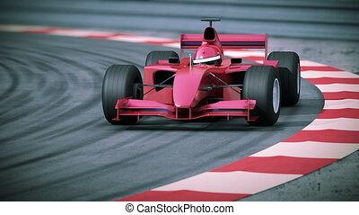 f1, motion., bolide, rouges, lent
