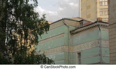 façade bâtiment, vieille architecture
