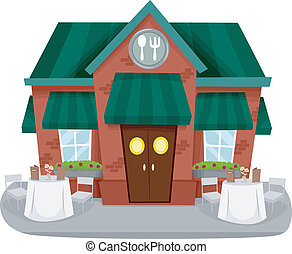façade, restaurant