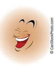 face souriant, illustration, vecteur