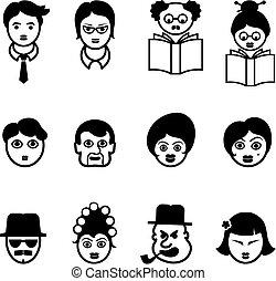 faces, ensemble, culturel, multi