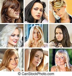 faces, femmes