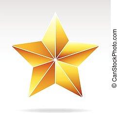 facetté, étoile or, vecteur
