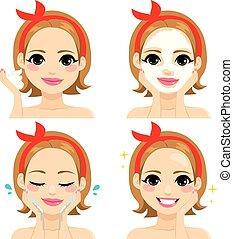 facial, traitement beauté