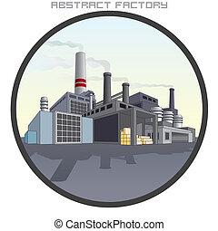 factory., résumé, illustration