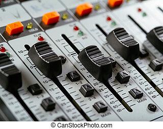 faders, studio, enregistrement