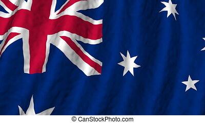 faire boucle, australie, fond, drapeau