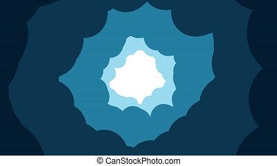 faire boucle, bleu, animation, tunnel, nuageux