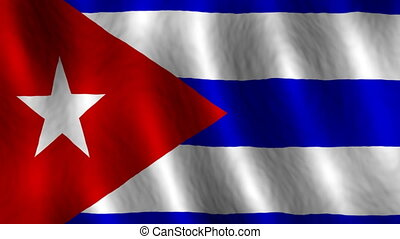 faire boucle, cuba, fond, drapeau