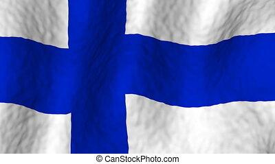 faire boucle, finlande, fond, drapeau