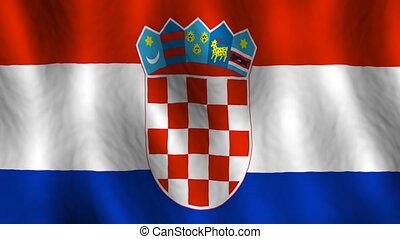 faire boucle, fond, drapeau croatie