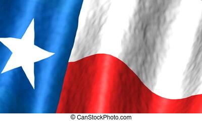 faire boucle, fond, drapeau texas