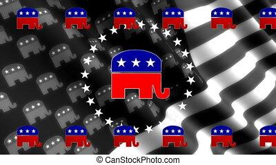 faire boucle, fond, républicain, drapeau
