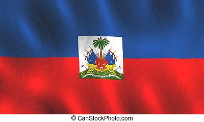 faire boucle, haïti, fond, drapeau