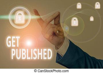 faire, public, disponible, published., écriture, obtenir, concept, business, vue., matériel, texte, mot, littérature