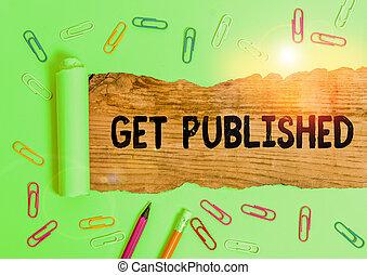 faire, public, disponible, signification, published., écriture, obtenir, concept, écriture, vue., matériel, texte, littérature