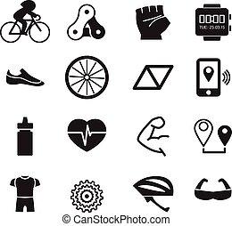 faire vélo, icônes