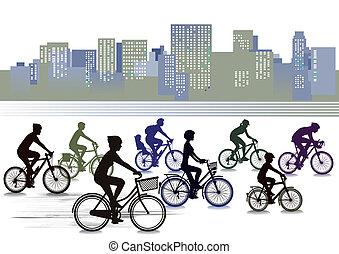 faire vélo, ville