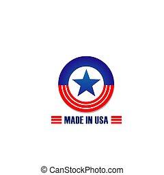 fait, étoile, usa, raies, drapeau, vecteur, icône