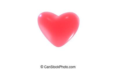 fait boucle, coeur, jeûne, vitesse, annonce, rouges, battements, -