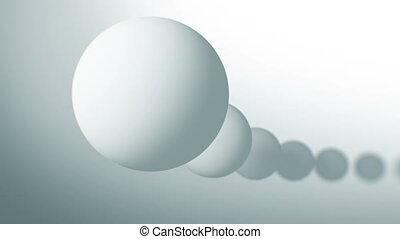 fait boucle, résumé, seamless, balles, en mouvement, fond, blanc, animation., 3d