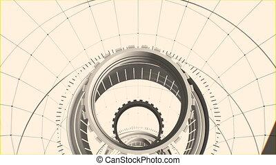 fait boucle, tunnel, résumé, seamless, graphiques mouvement