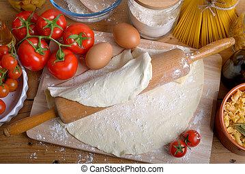 fait maison, ingrédients, italien, pizza