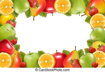fait, nature, fond, fruit