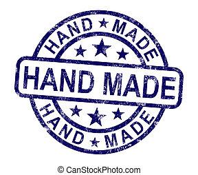 fait, timbre, fait main, main, typon, original, spectacles