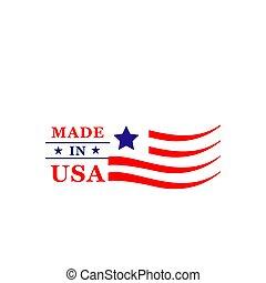 fait, usa, drapeau américain, vecteur, qualité, icône