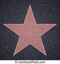 fame., vide, étoile, gabarit, promenade
