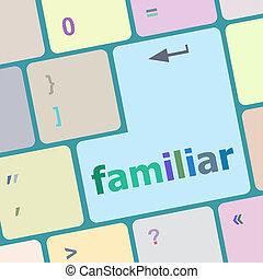 familier, bouton, ordinateur pc, clã©, clavier