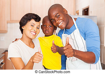 famille, abandon, jeune, pouces, africaine