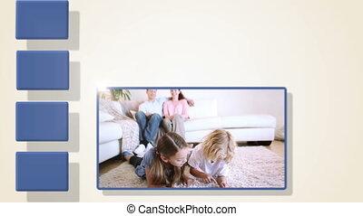 famille, animation, vidéos